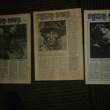 rolling stone magazine issue#1 and some others - Paper