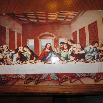 Rare Porcelain Sign  &quot;The Last Supper&quot;