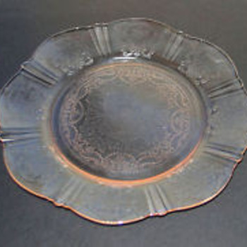 American Sweetheart Depression Glass - pink