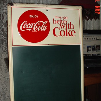 1964 Coca-Cola Menu Board