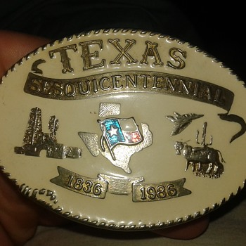 texas sesquicentennial belt buckle