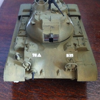 M47 Patton tank model. - Military and Wartime