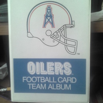 Houston Oilers Team card Holder  - Football