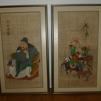 Old Korean paintings purchased from a soldier after the Korean war - Asian