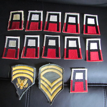 """A"" Military Patches - Military and Wartime"