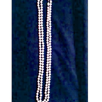 "30"" Faux Pearl Necklace / Rhinestone Studded Slide Clasp /Unknown Age"
