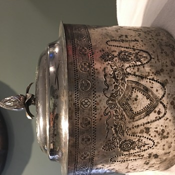 Unmarked silver? Tea caddy/biscuit tin unsure of time period