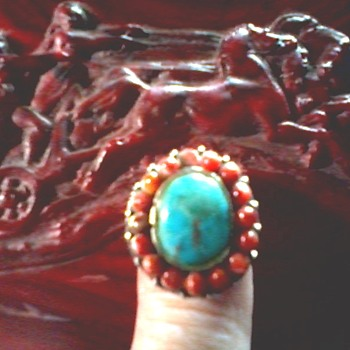 Two Turquoise and Silver Rings / Circa 20th Century - Fine Jewelry