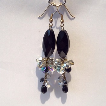 Onyx or jet? Earrings