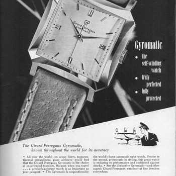 1952 - Girard Perregaux Watch Advertisement - Advertising