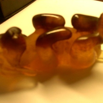 Spaniel Puppy, Amber Crystal by DAUM FRANCE - Art Glass
