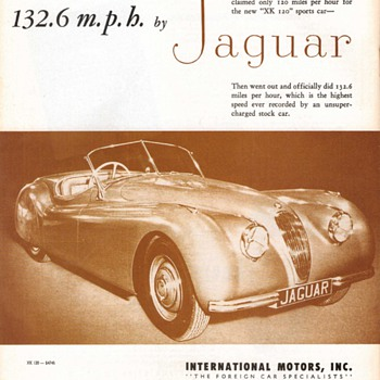 1949 - Jaguar Advertisement - Advertising