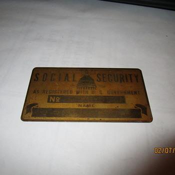 METAL SOCIAL SECURITY CARD