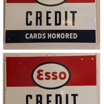 esso credit card sign