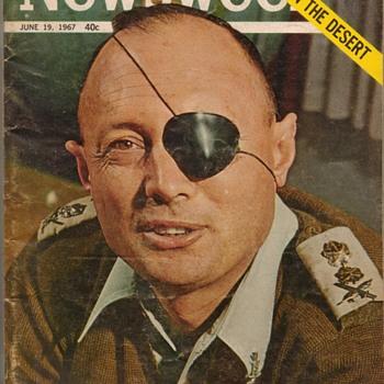 1967 - NEWSWEEK Magazine - Moshe Dayan - Paper