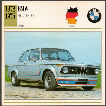 Vintage Car Card - BMW 2002 Turbo