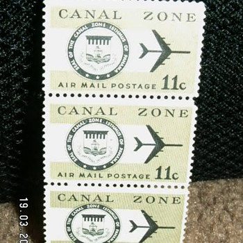 1971 Canal Zone Air Mail Postage 11c Stamps  - Stamps