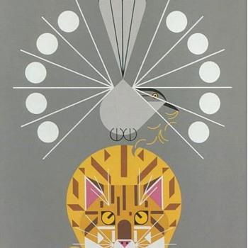 Charley Harper Catnip Serigraph