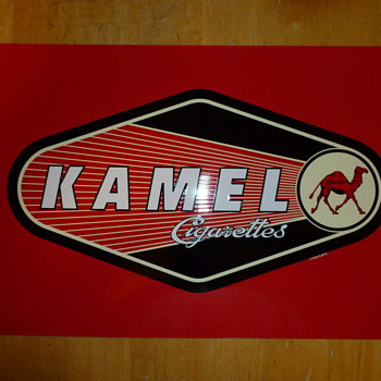 Red Kamel Promo tin sign 1998