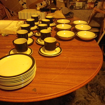 The Poole Tableware collection, cups, saucers, bowls and plates. lets have a vintage party!