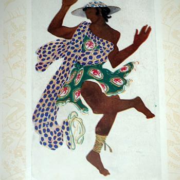 Serge de Diaghileff's Ballet Russe Souvenir - Art Nouveau