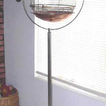 Copper Bird Cage with Stand 
