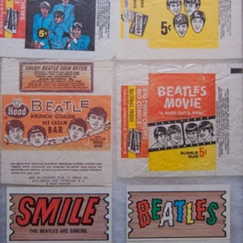 Beatles wrappers and Plak Cards-1964