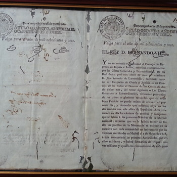 Spanish Royal Decree for the 2 May Holiday. - Paper