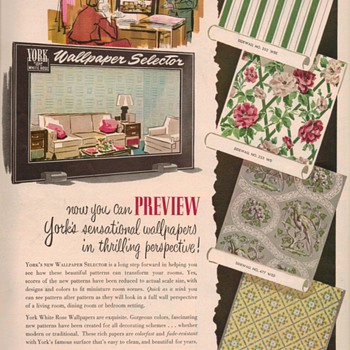1950 York Wallpaper Advertisement - Advertising