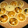 Delicious plate of celluloid buttons