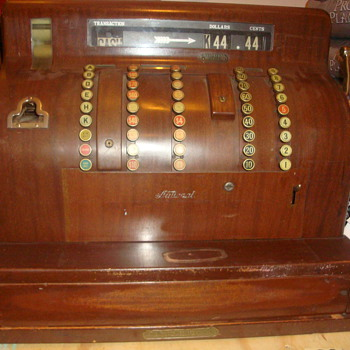 1926 Antique National Cash Register model #1852