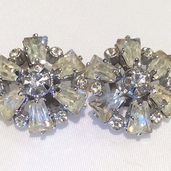Antique clip on earrings