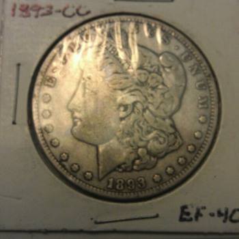 1893 CC Morgan Silver dollar - US Coins