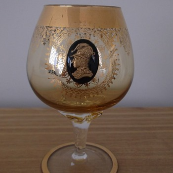 Unusual brandy glass
