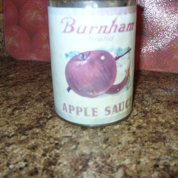 burnham brand apple sauce bank
