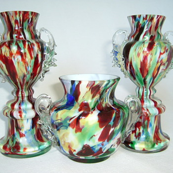 Welz Trophy Vases and Small Bowl - Art Glass