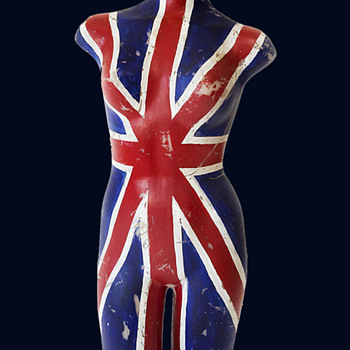 Unique hand painted 1960's Los Angeles UNION JACK Mannequin