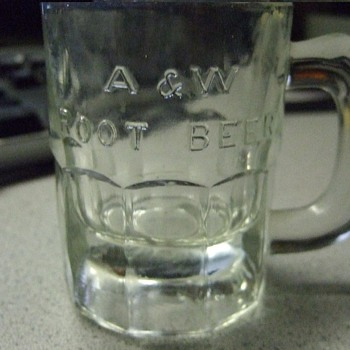 Earlier A & W root beer mini mug - Advertising