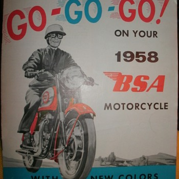 1958 BSA Motorcycle Dealers Brochure  - Motorcycles