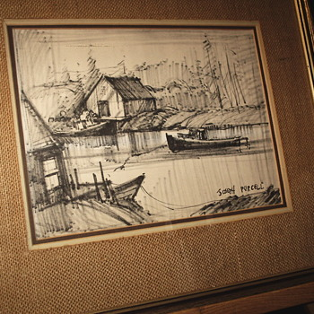 "Sketch drawing by Joseph Purcell""Canadian Artist,Circa 1950-60 - Visual Art"