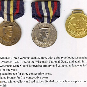 WNG King Medal - Military and Wartime