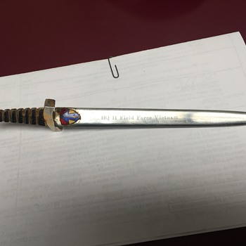 HHQ ll Field Force Vietnam Sword Letter Opener made in Japan