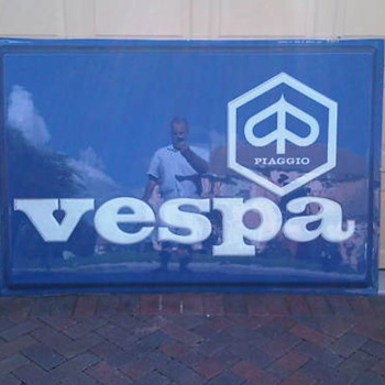 70's Vespa Dealership Sign - NOS