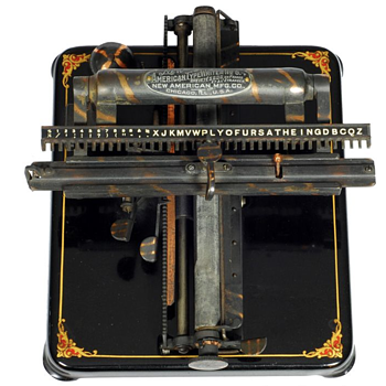 New American 5 typewriter  (also International 5 typewriter) - 1906 - Office