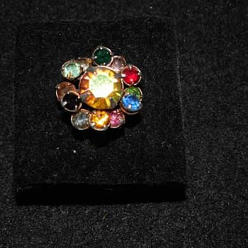 Zodiac Ring with all 12 birthstones and large center stone - Costume Jewelry