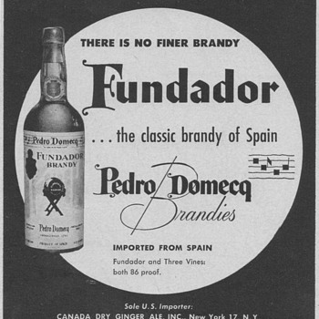 1954 Fundador Brandy Advertisement - Advertising