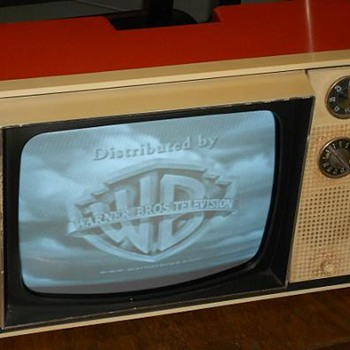 Vintage early 70's Orange Zenith Television