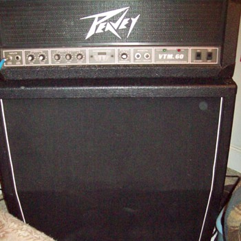 Peavey VTM-60 amp head w/ an ISP 4x12 bottom.