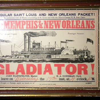 New Orleans Packet steamship departure card - Cards