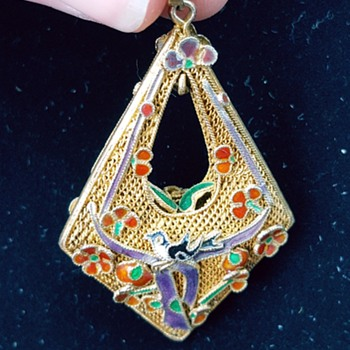 Chinese filigree pendant